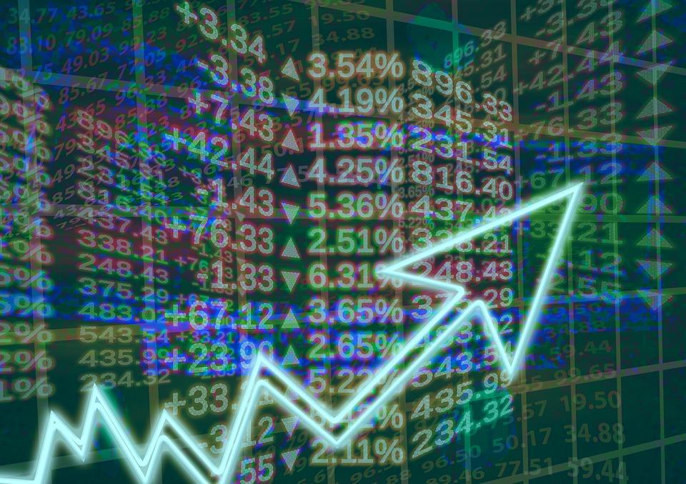 wykres i liczby, giełda